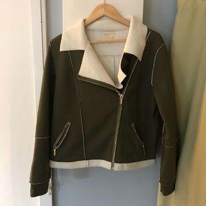 Army GreenMichael Kors  sweater jacket size XL